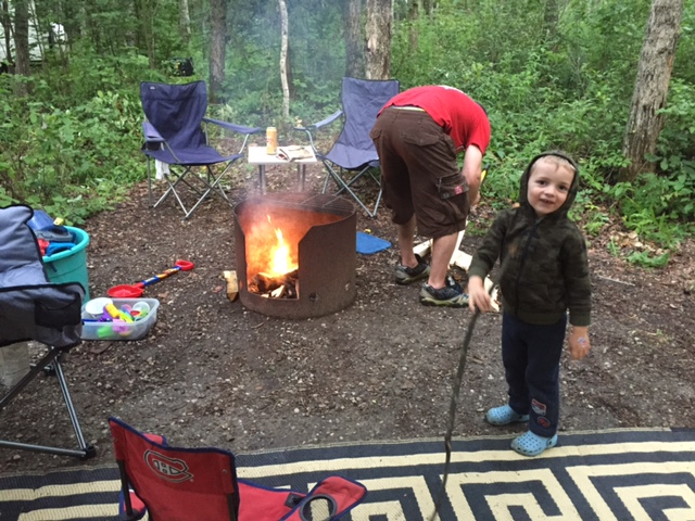 All set up and ready for a campfire!