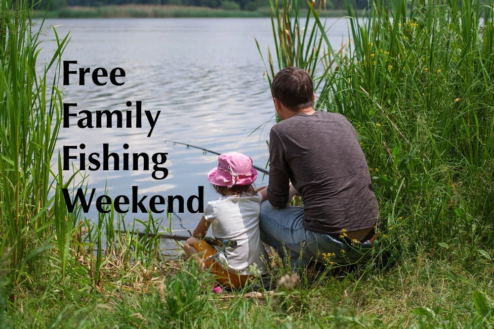 Free family fishing weekend modern mama for What do you need to get a fishing license